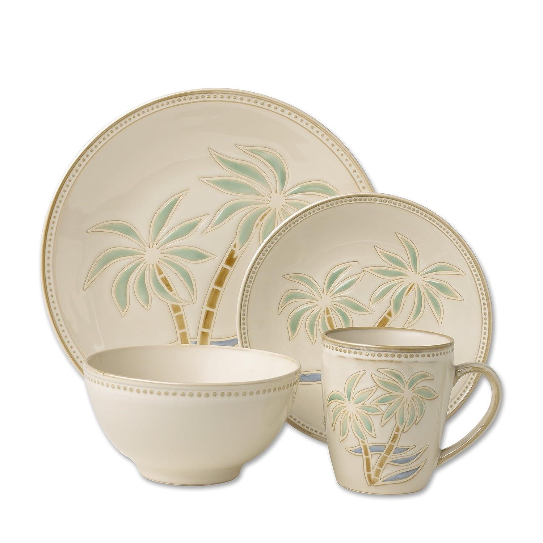amazoncom pfaltzgraff palm 16piece stoneware dinnerware set service for 4 dinnerware sets - Pfaltzgraff Patterns