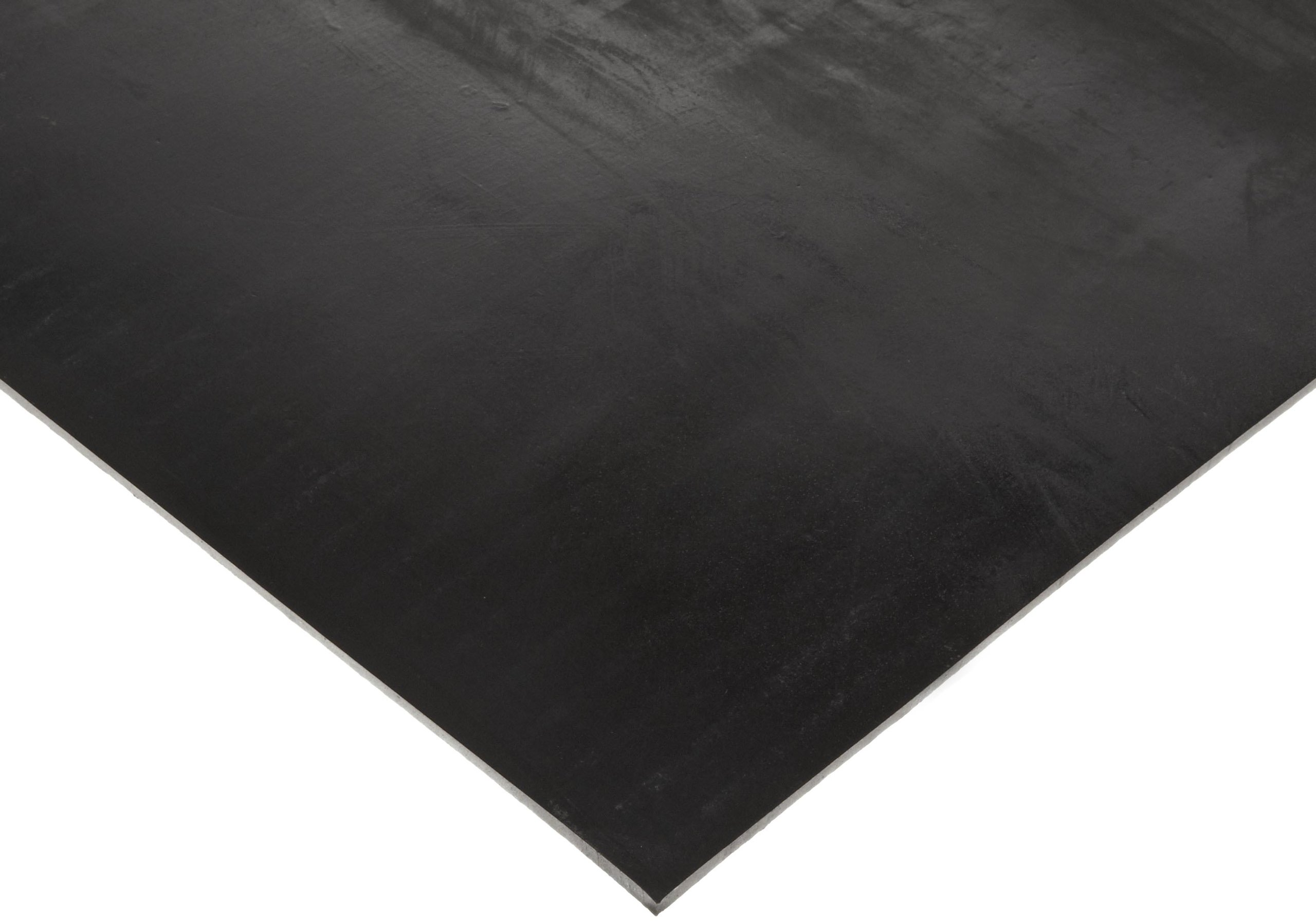 Butyl Sheet, 60A Durometer, Smooth Finish, No Backing, Black, 1/8'' Thickness, 12'' Width, 24'' Length