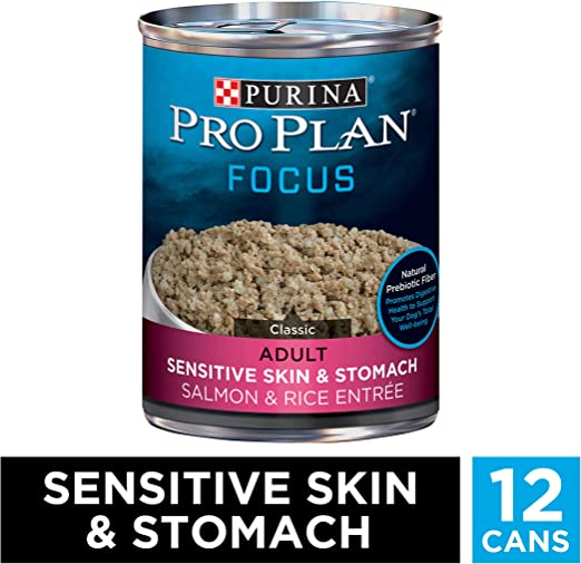 Purina Pro Plan Focus Sensitive Skin & Stomach Dog Food - The Best Wet Dog Food for Skin and Coat