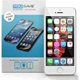 Yousave Accessories iPhone SE Screen Protector 5 Pack [Ultra Thin] Crystal Clear [Triple Layer Scratch Guard Technology]