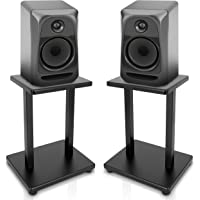 Pyle PSTND18 Universal Heavy-Duty Double Support Steel Bookshelf Speaker Stands