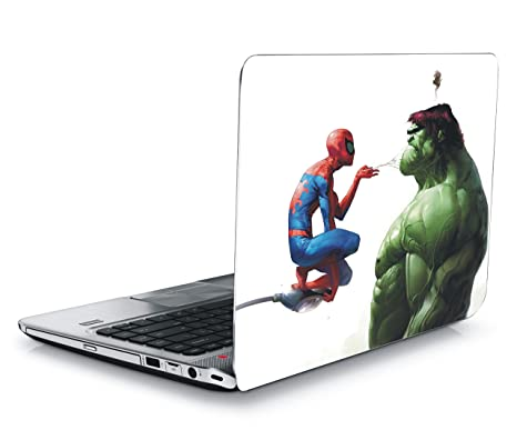 Sanctrix Marvel Spiderman Vs Hulk Skin Sticker For 15 6 Inch Dell Lenovo Acer Hp Laptop With Three Mobile Sticker Buy Sanctrix Marvel Spiderman Vs Hulk Skin Sticker For 15 6 Inch Dell Lenovo Acer Hp Laptop With Three