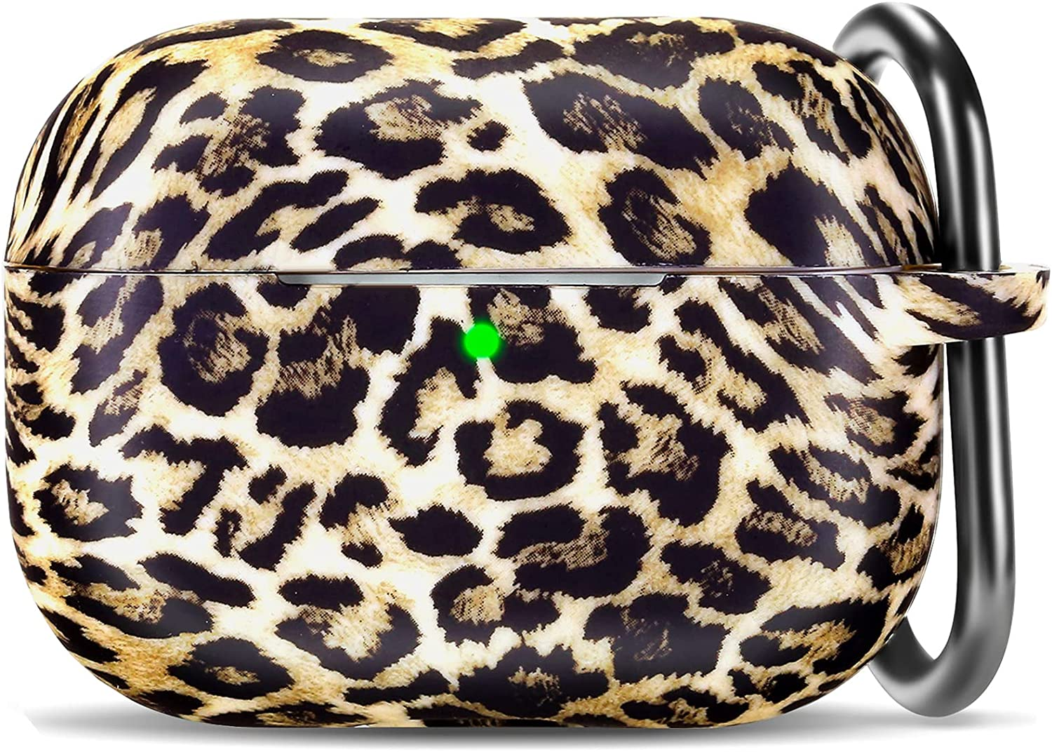 Leopard Airpod Pro Case Cover, Soft Cute Silicone Print Earpods Pro Case with Keychain for Girls and Women with Apple Airpods Pro Charging Case
