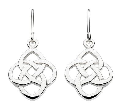 Heritage Womens Sterling Silver Celtic Open Knot Drop Earrings 6217HP iFyatc