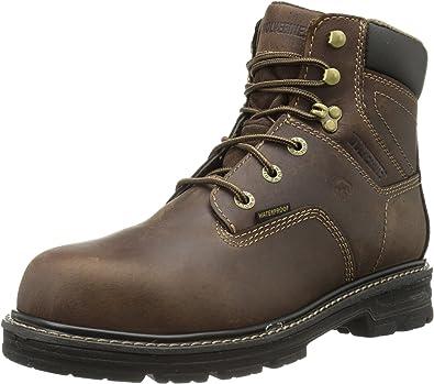 Wolverine W10104 Nolan Waterproof Brown Welt Soft Toe Work Boots Size 13 US M