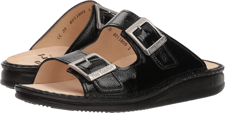 Finn Comfort Women's Hollister Slide Sandal B0762T5N64 37 M EU|Black