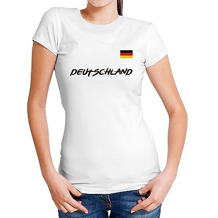 Lolapix Camiseta seleccion de fútbol Personalizada con Nombre y número. Camiseta de algodón para Mujer