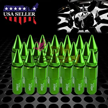 16 PC GREEN LUG EXTENDED RACING LUG NUTS FOR TIRES//WHEELS//RIMS 50MM 12X1.25 C