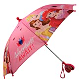 Disney Little Girls Assorted Characters Rainwear Umbrella, Ages 3-7
