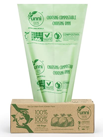 Unni?Certified~6400 100% Compostable Small Kitchen Trash ...