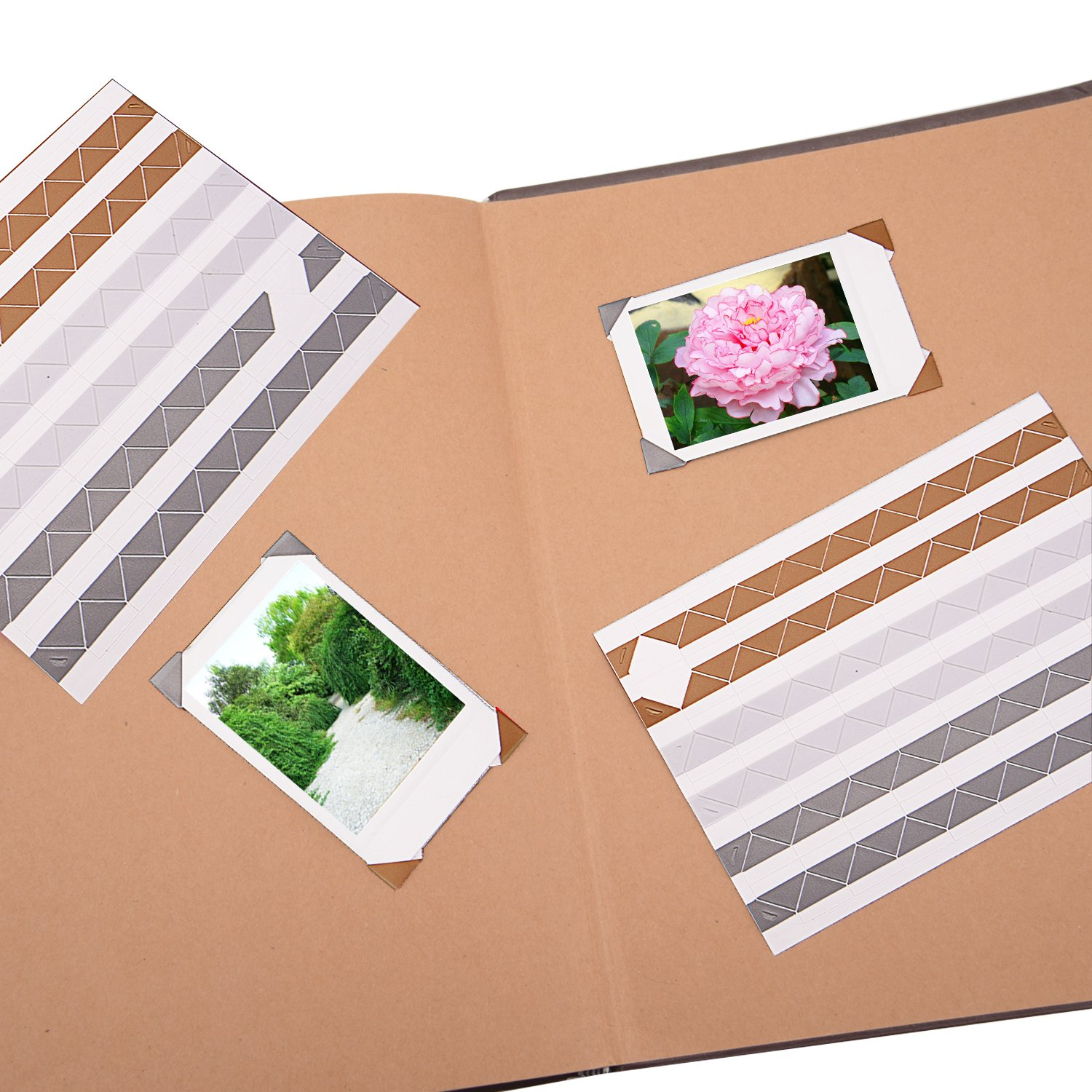 Sunmns 20 Sheets Photo Picture Corners Self Adhesive Stickers