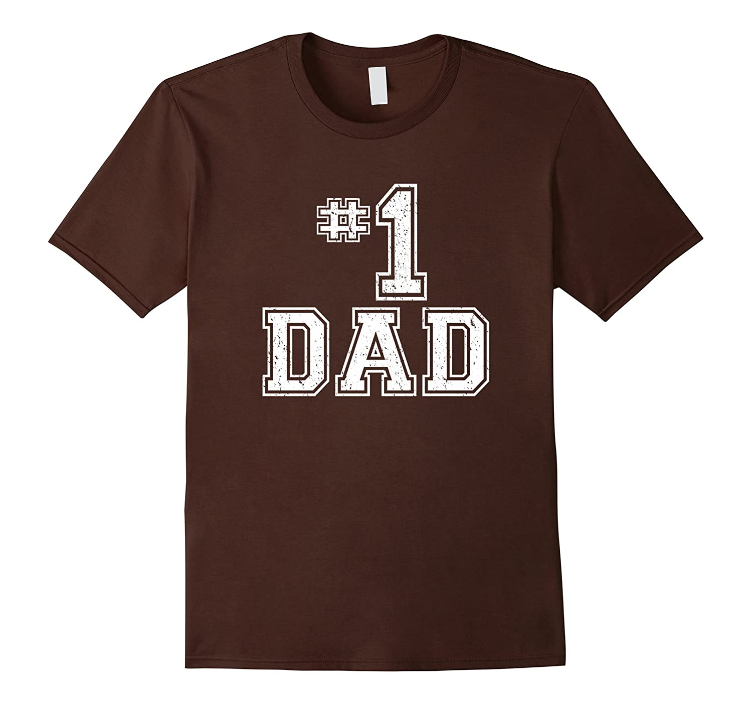1 Dad Number One Fathers Day Vintage Style T-Shirt-TH