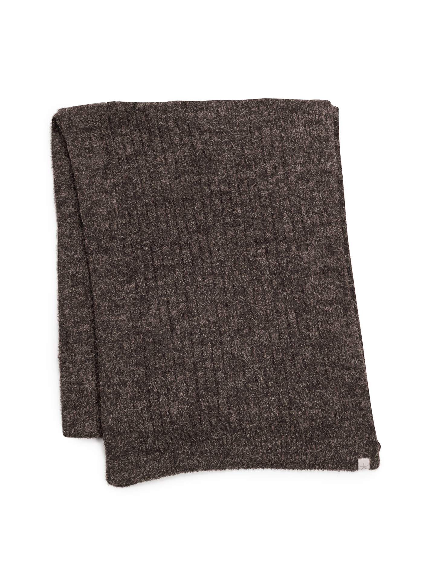 Barefoot Dreams CozyChic Lite Ribbed Scarf HE Espresso/Cocoa by Barefoot Dreams