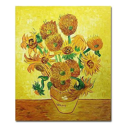Amazon Muzagroo Art Oil Paintings Van Gogh Vase With Fifteen