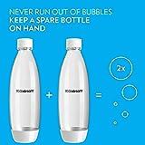 SodaStream 1L Slim White Carbonating Bottle Twin