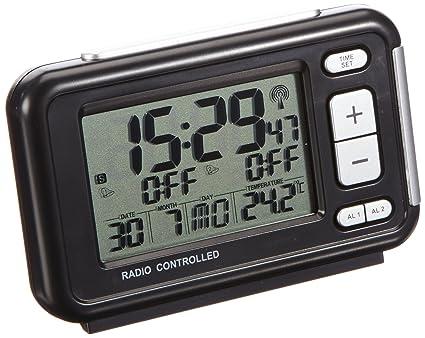TFA 60.2500 - Despertador radiocontrolado con termómetro