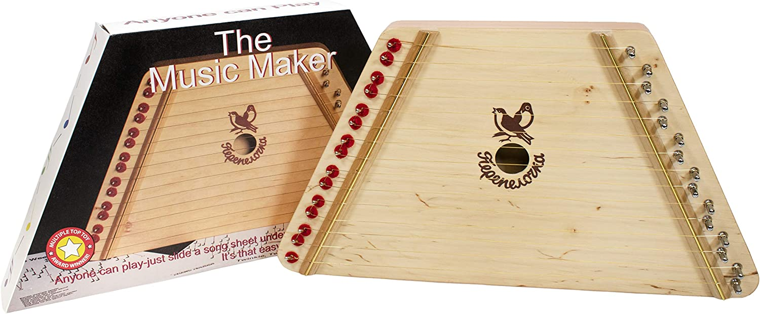 B00000J50W Music Maker - Hand Made Lap Harp - Easy to Play Musical Instrument 81R5tbPGDML