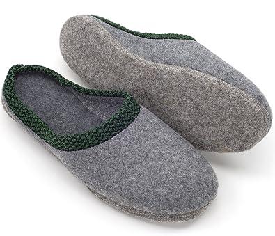 1c547cd90b4e Felt Slippers Felt Sole House Shoes Unisex Adult EU Sizes 36-50 ...