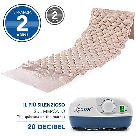 AIESI Colchón Antiescaras de aire con compresor ajustable de ciclo alterno DOCTOR MATTRESS ✔ 130 celdas ✔ Capacidad 150 Kg ✔ Súper silencioso ✔ ...