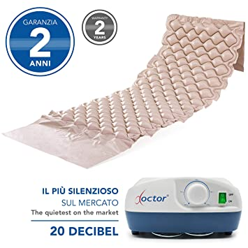 Aiesi Matelas Anti Escarres A Bulles D Air Avec Compresseur Reglable A Cycle Alterne Doctor Mattress 130 Cellules Capacite 150 Kg Super