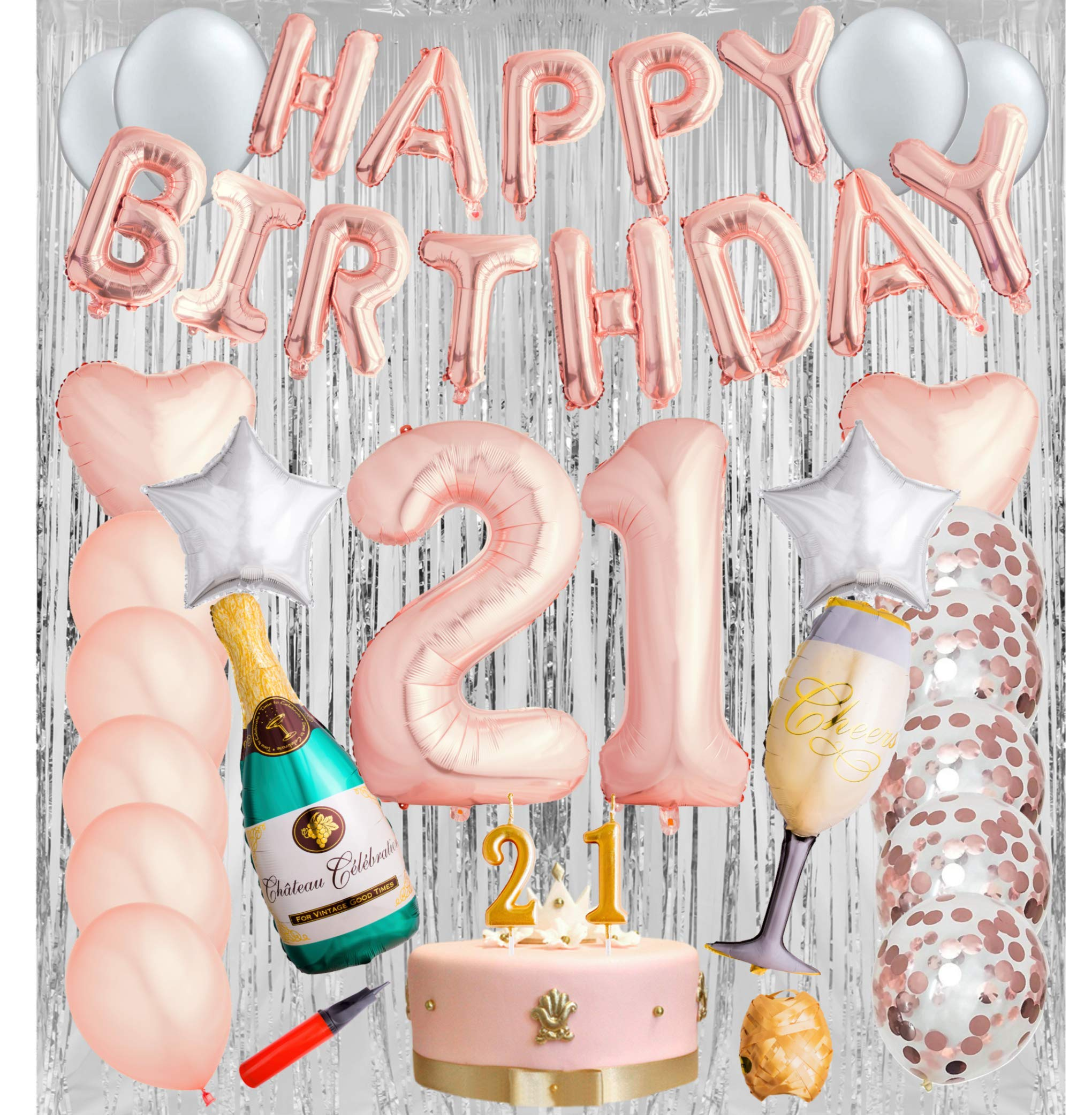 21st 30th 50th Birthday Decorations Kit