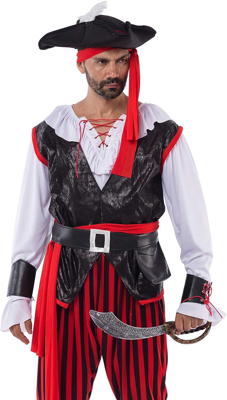 Spooktacular Creations Disfraces de Pirata de Halloween Cosplay Costume para Hombre Cosplay Disfraz Carnaval Adulto