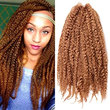 Amazoncom Pack Of 3 Afro Kinky Marley Braids Hair Extensions