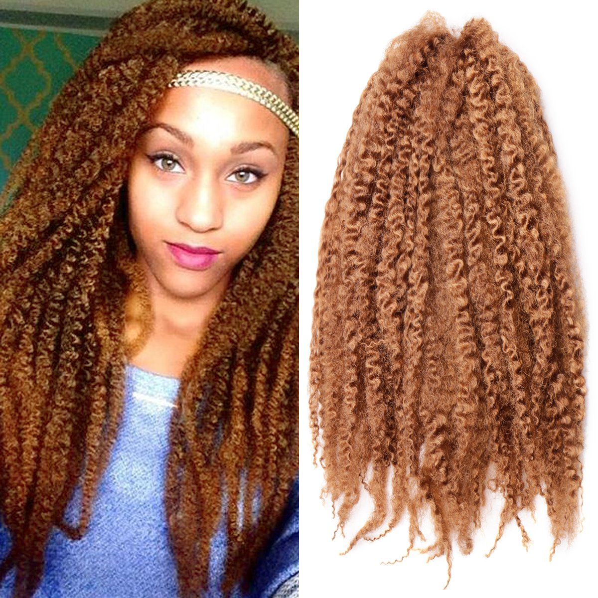 Amazon Pack Of 3 Afro Kinky Marley 18 Inch Braids Hair