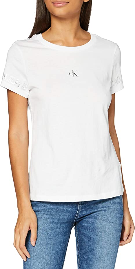 Calvin Klein Outline Logo tee Camisa para Mujer
