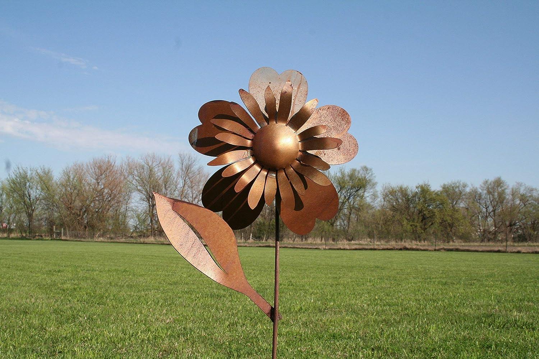 Large Metal Sunflower Garden Stake