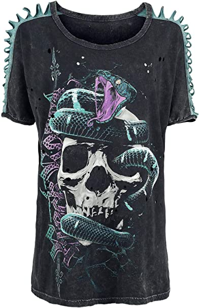 Rock Rebel by EMP Venom Camiseta Mujer Gris Oscuro XS