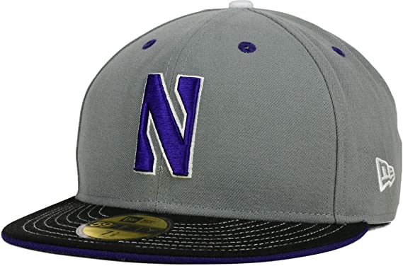 bff54ff8457 Image Unavailable. Image not available for. Colour  Northwestern University  Wildcats Storm Custom New Era 59FIFTY Fitted Cap Hat ...