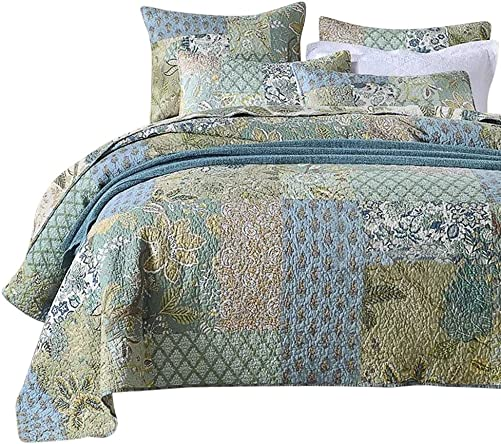 NEWLAKE Bohemian Floral Pattern Bedspread Quilt Set
