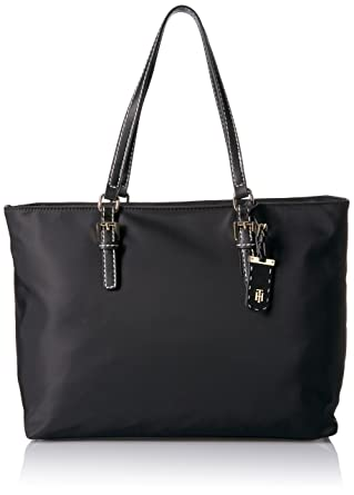 7101c3ef3e6 Amazon.com: Tommy Hilfiger Tote Bag for Women Julia, Black: Clothing