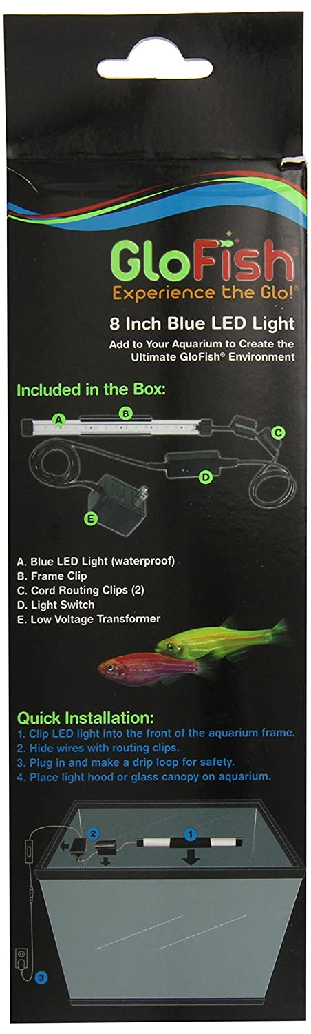 81R6%2Bh8ad3L._SL1500_ amazon com glofish 29014 led aquarium light, 8 inch, blue pet  at creativeand.co