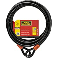 BURG-WÄCHTER Cable de seguridad con argollas, Cable de acero revestido (sin candado), Seguridad para muebles de jardín…