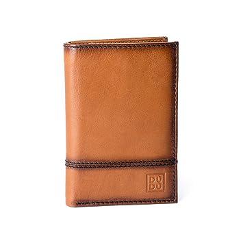 9108ad9321 Portafoglio uomo verticale pelle alta qualità con 9 tasche porta carte  tessere DUDU Marrone chiaro: Amazon.it: Valigeria