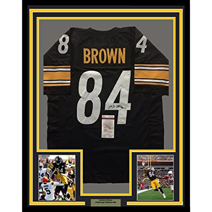 0e99479fc69 Image Unavailable. Image not available for. Color  Framed Autographed Signed  Antonio Brown 33x42 Pittsburgh Steelers Black Football Jersey JSA COA
