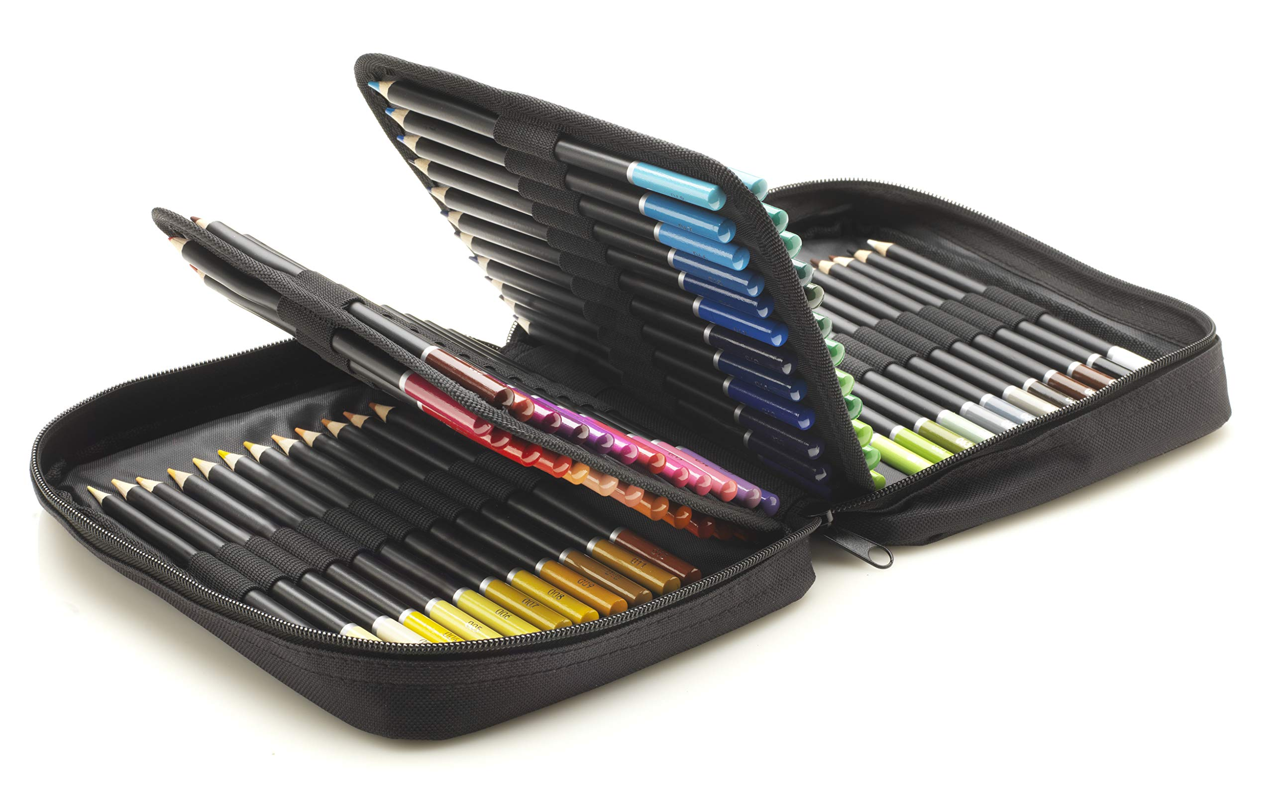 Castle Art Supplies 72 Colored Pencils Zip-Up Set - Easy Zipper Case to Store and Protect Your Coloring Pencils by Castle Art Supplies