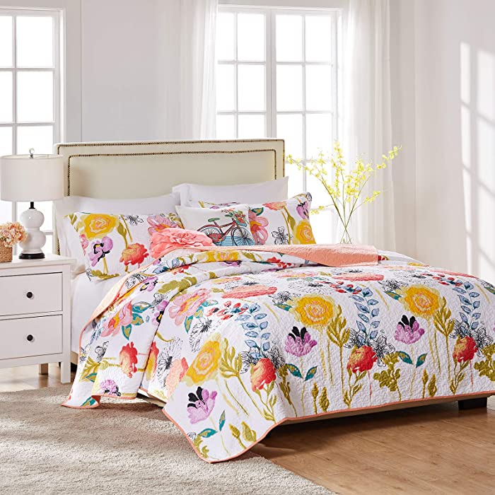 Top 10 Greenland Home Water Color Dream Quilt Set