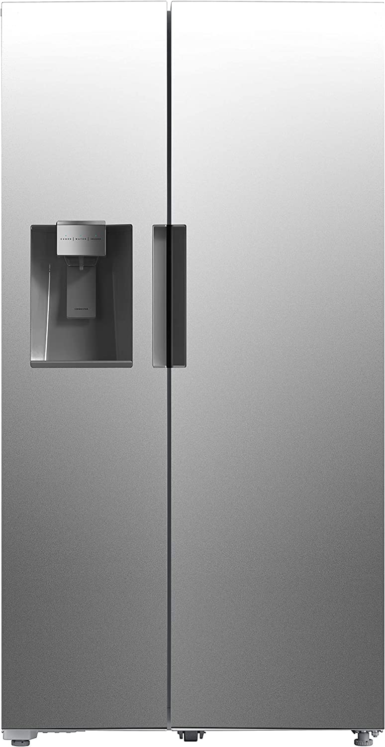 SMETA 36 Inch Side-by-Side Refrigerator 26.3 cu ft Freestanding with Auto Ice Maker and Water Dispenser Large Capacity Refrigerator for Home, Stainless Steel