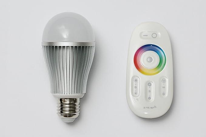 Wifi Bombilla LED RGB, con mando a distancia, bombilla E27, cambio de color
