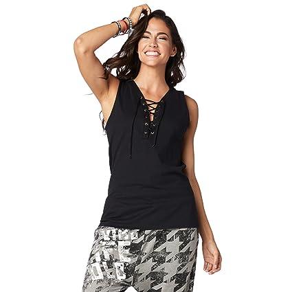 c23faffa8e9404 Amazon.com  Zumba Women s Graphic Design Loose Workout Muscle Tank ...