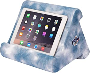 Flippy Multi-Angle Soft Pillow Lap Stand for Tablets, eReaders, Smartphones, Books, Magazines (Midori's Shibori)