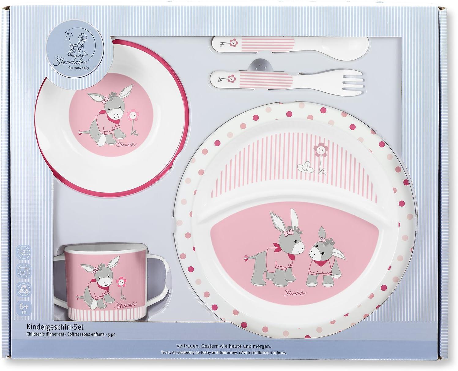 Assiette Sterntaler Set de vaisselle Katharina bol fourchette Rose Tasse cuill/ère /Âge: Pour les b/éb/és /à partir de 6 mois