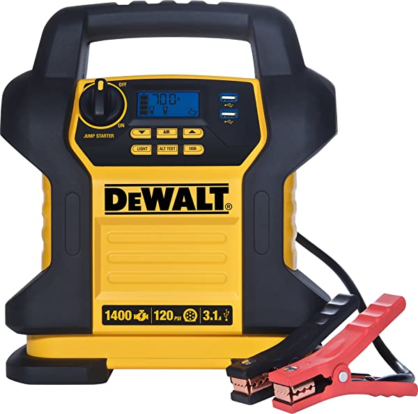 The DEWALT DXAEJ14 is a heavy duty jump starter that can bring any dead battery back to life.