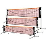 FBSPORT Portable Badminton Net Set, Adjustable Height Tennis, Kids Volleyball, Soccer Tennis Badminton Net with Poles…