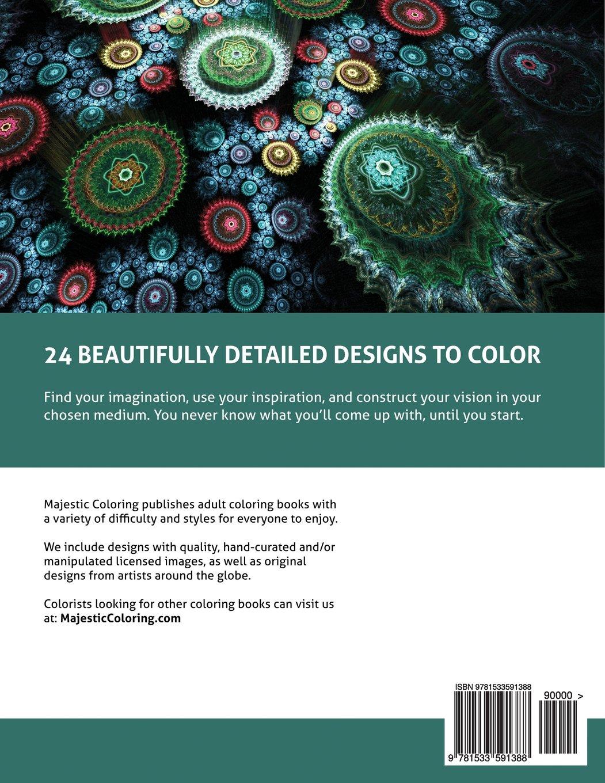 Fantasy World Vol 2 Grayscale Coloring Book For Adults Majestic 9781533591388 Amazon Books