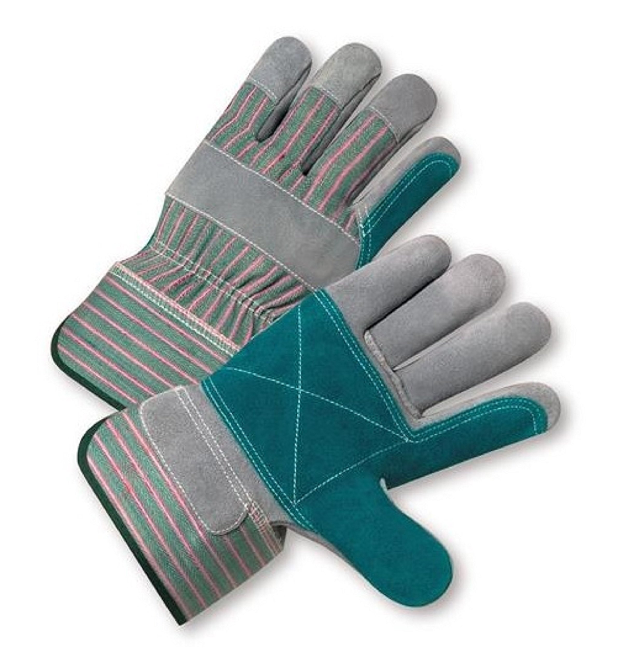 West Chester 500DP Rubberized Safety Cuff Leather Glove, 10.5'' Length, Large, Gray (Case of 72 Pairs) by West Chester Protective Gear (Image #1)