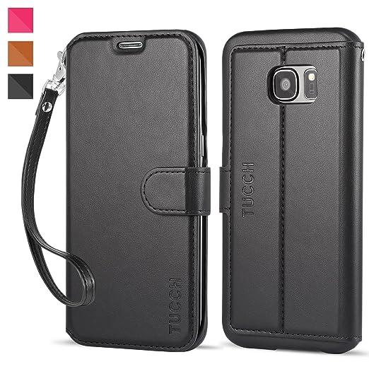 18 opinioni per Custodia Galaxy S7 Edge, TUCCH Custodia in Pelle, [GARANZIA DI VITA], [Pellicole